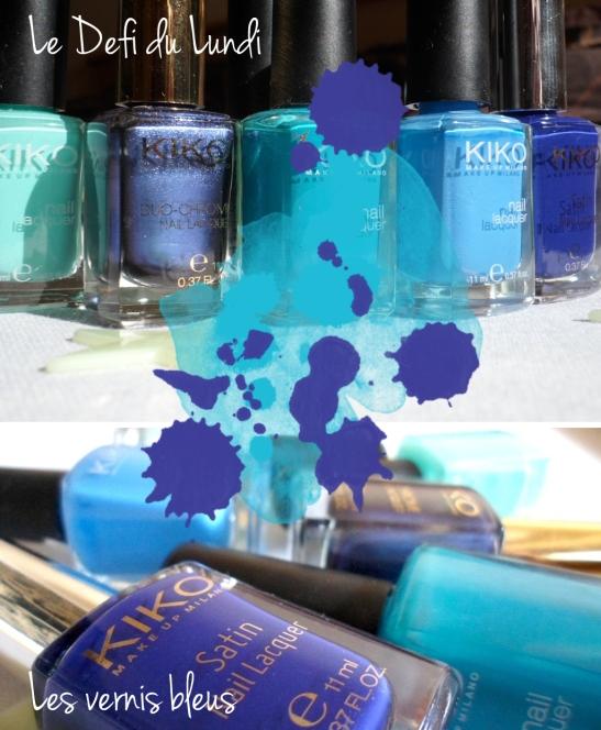 vernis bleus kiko